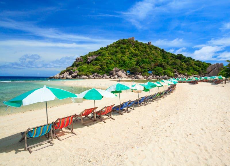 Ilha de Nangyuan, do sul de Tailândia fotografia de stock royalty free