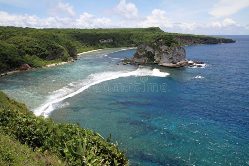Ilha de pássaro em Saipan fotos de stock royalty free