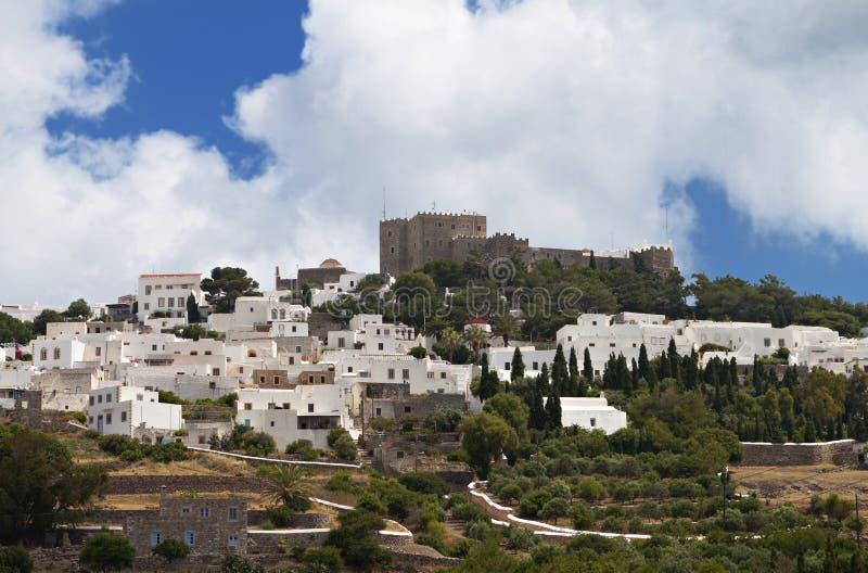Ilha de Patmos em Grécia fotografia de stock