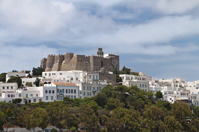 Ilha de Patmos em Grécia imagem de stock royalty free