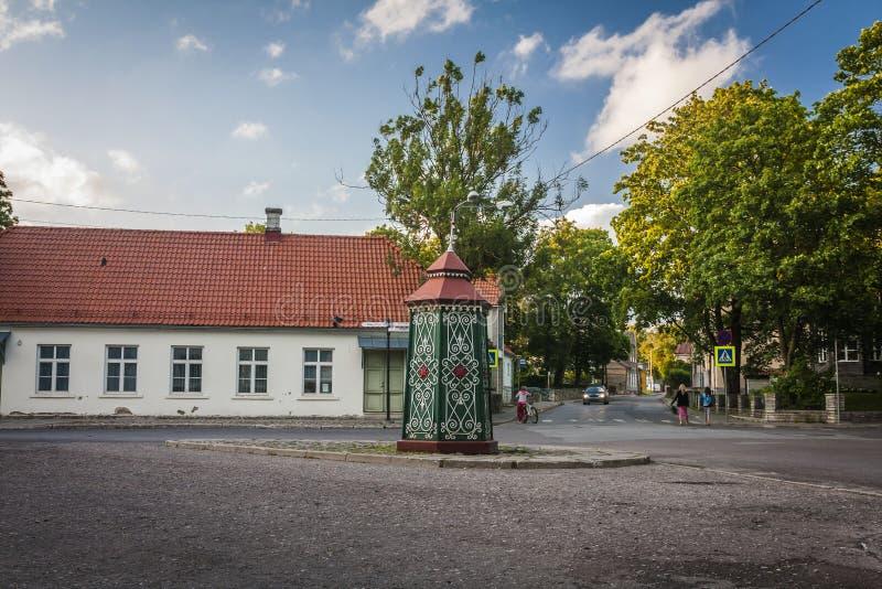 Ilha de Saaremaa, Estónia fotografia de stock