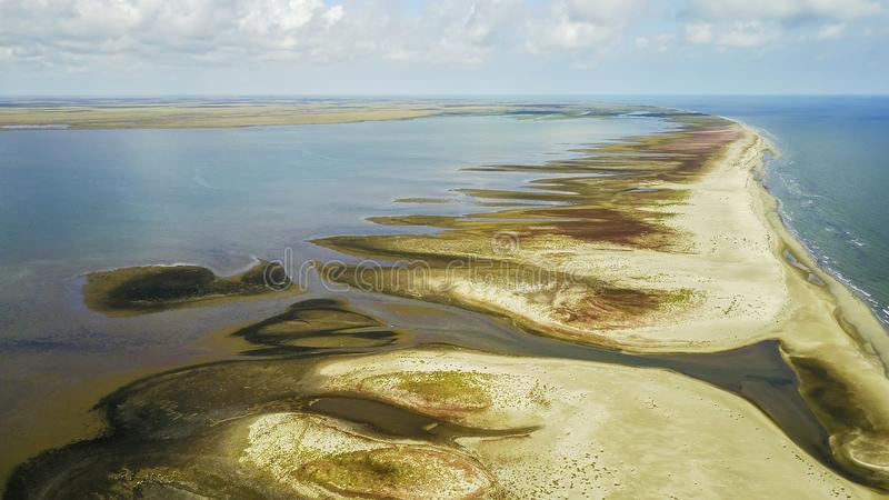 Ilha de Sacalin, o Mar Negro, Romênia imagens de stock