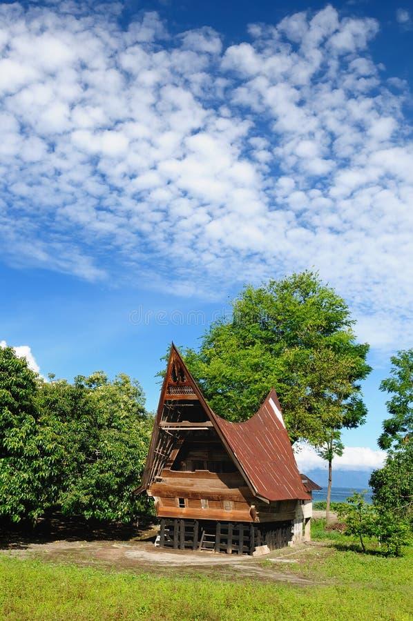 Ilha de Samosir, lago Toba, Sumatra norte, Indon?sia imagem de stock royalty free