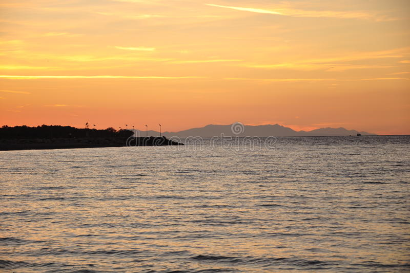 Ilha de Samothrace, Grécia imagens de stock