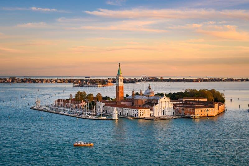 Ilha de San Giorgio Maggiore em Veneza, Itália imagens de stock