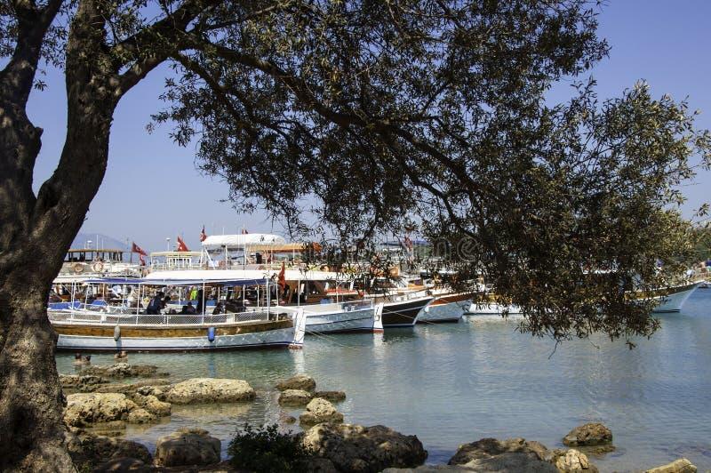 Ilha de Sedir, Gokova, Turquia fotografia de stock