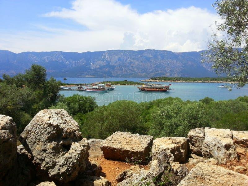 Ilha de Sedir Mar Egeu Turquia foto de stock