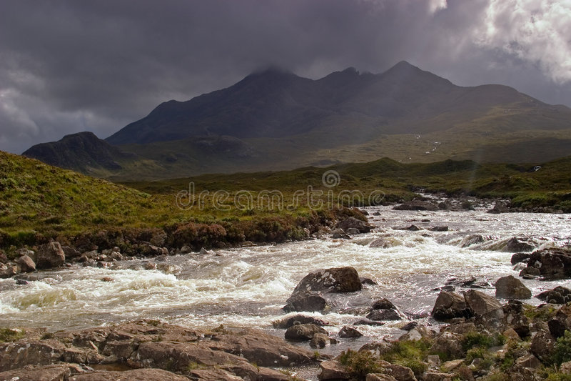Ilha de Skye foto de stock