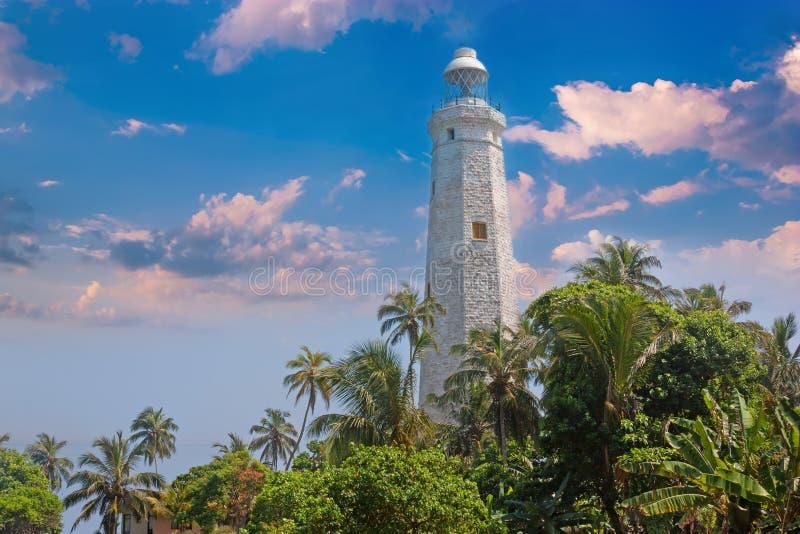 Ilha de Sri Lanka, perto de Matara Cabeça de Dondra do farol imagens de stock