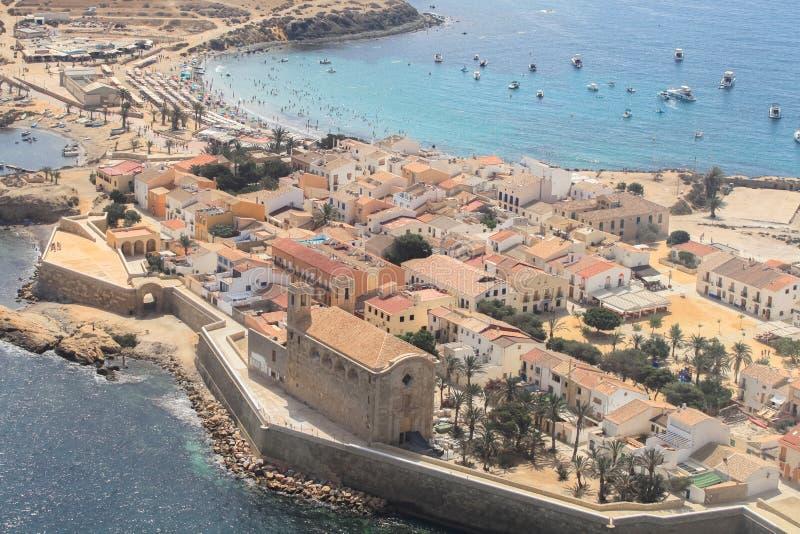 Ilha de Tabarca em Alicante, Espanha imagem de stock