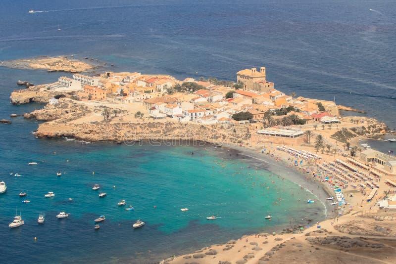 Ilha de Tabarca em Alicante, Espanha foto de stock royalty free