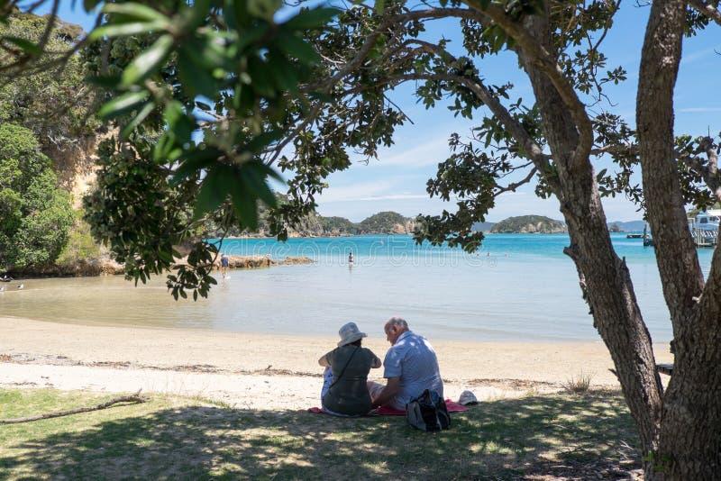 Ilha de Urupukapuka, baía das ilhas, Nova Zelândia, NZ - 1º de fevereiro imagens de stock royalty free