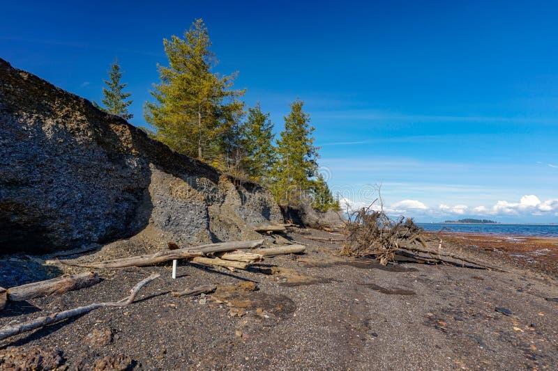 Ilha de Vancôver dos montes de carvão da baía da união, Columbia Britânica, Canad imagem de stock
