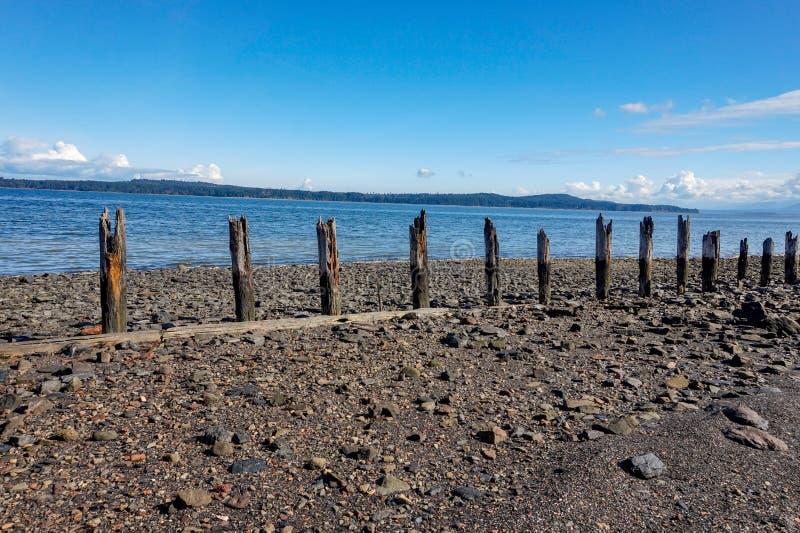 Ilha de Vancôver dos montes de carvão da baía da união, Columbia Britânica, Canad imagens de stock