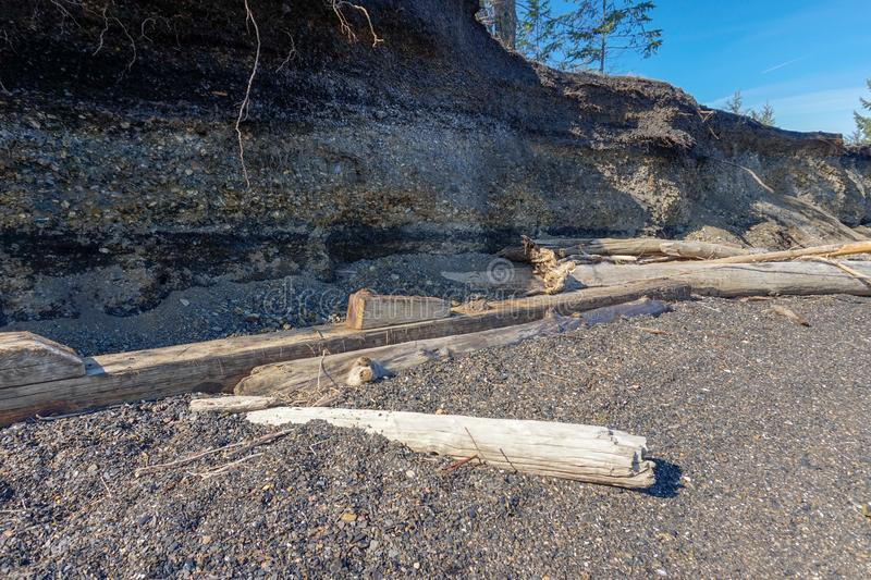 Ilha de Vancôver dos montes de carvão da baía da união, Columbia Britânica, Canad imagem de stock royalty free