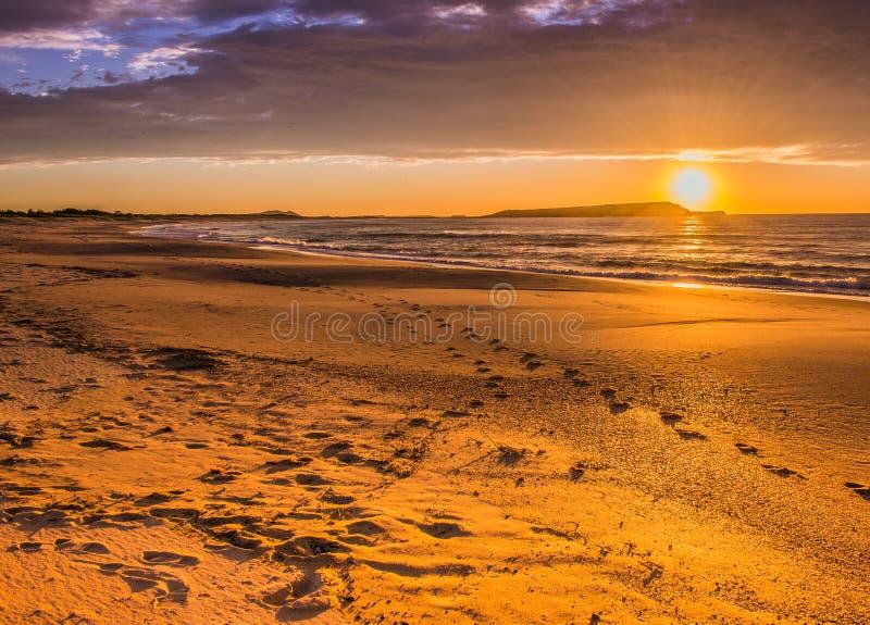 Ilha de Windang do nascer do sol fotografia de stock royalty free