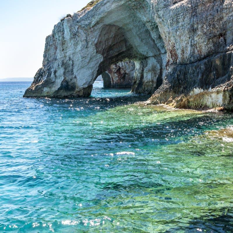 Ilha de Zakynthos, Gr?cia Uma p?rola do mediterr?neo com as praias e as costas apropriadas por feriados inesquec?veis do mar imagem de stock