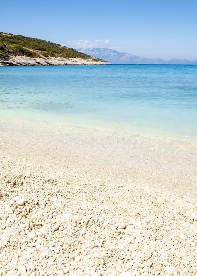 Ilha de Zakynthos, Gr?cia Uma p?rola do mediterr?neo com as praias e as costas apropriadas por feriados inesquec?veis do mar fotografia de stock royalty free