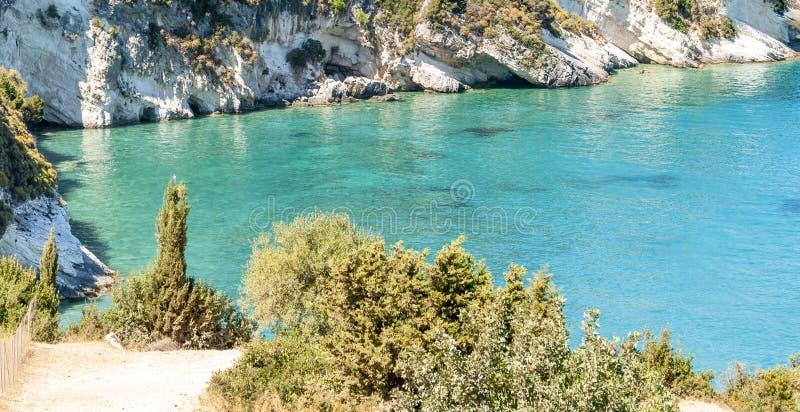 Ilha de Zakynthos, Gr?cia Uma p?rola do mediterr?neo com as praias e as costas apropriadas por feriados inesquec?veis do mar imagens de stock royalty free
