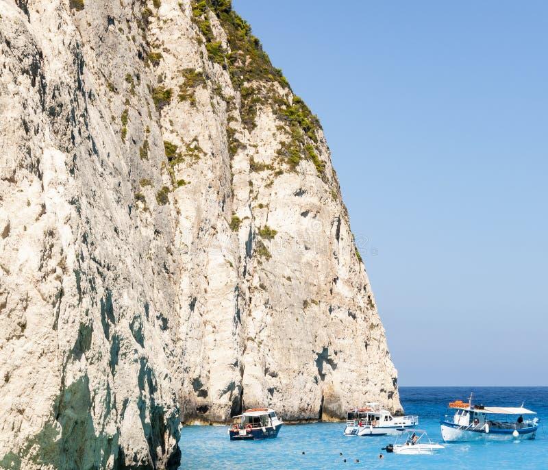 Ilha de Zakynthos, Gr?cia Uma p?rola do mediterr?neo com as praias e as costas apropriadas por feriados inesquec?veis do mar fotografia de stock