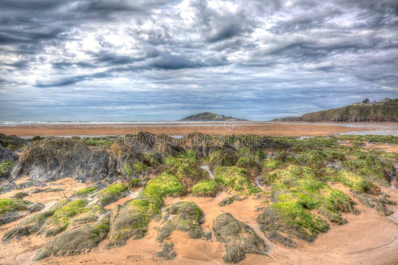 Ilha Devon sul do Burgh em HDR colorido como a pintura fotos de stock royalty free