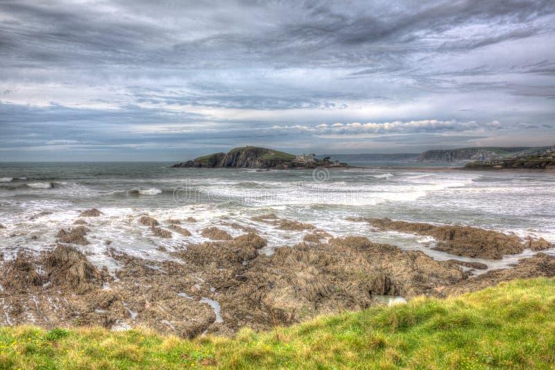Ilha Devon sul do Burgh em HDR fotos de stock