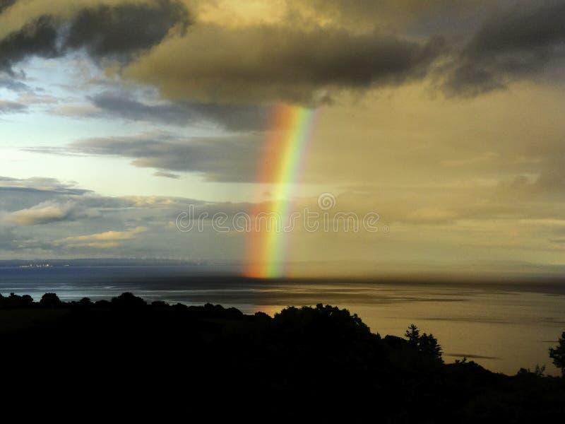 Ilha do arco-íris de Arran fotos de stock