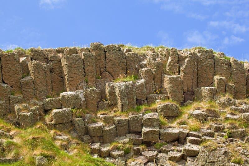 Ilha do basalto columnar vulcânico de Staffa fotos de stock