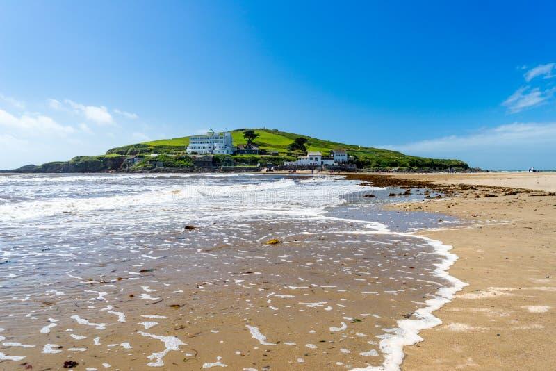 Ilha do Burgh do Bigbury-Em-mar foto de stock