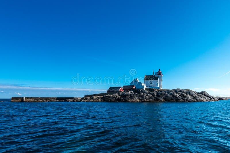 Ilha do farol fotografia de stock royalty free