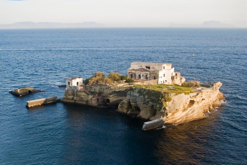 Ilha do Gaiola, Nápoles fotografia de stock royalty free