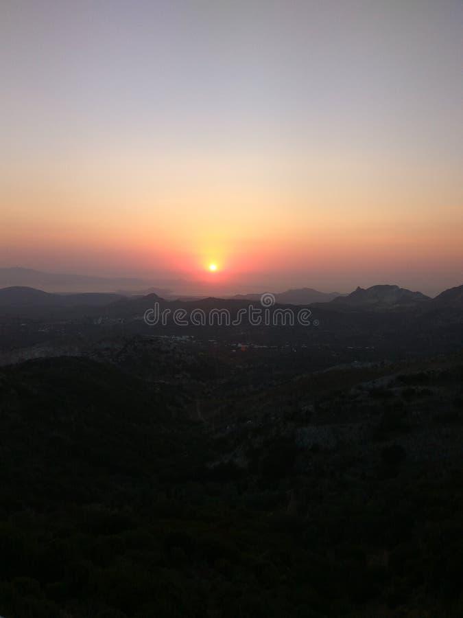 Ilha do grego do verão da natureza da ilha de Grécia fotos de stock royalty free