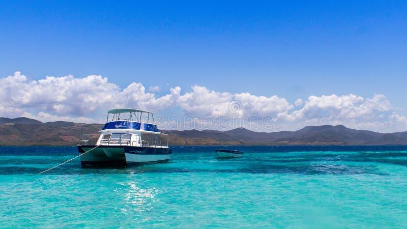 Ilha do paraíso na República Dominicana Puerto Plata imagens de stock
