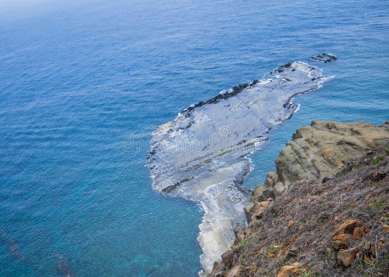 A ilha do qui-mei é ilhas de Taiwan a pouca distância do mar em penghu Há um ` do cenário pouco ` de Taiwan imagens de stock