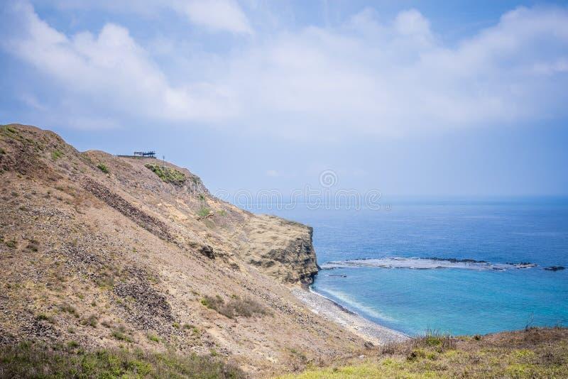 A ilha do qui-mei é ilhas de Taiwan a pouca distância do mar em penghu Há um ` do cenário pouco ` de Taiwan fotos de stock royalty free