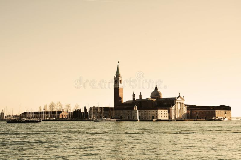 Ilha do St Giorgio, Veneza, Itália fotografia de stock royalty free