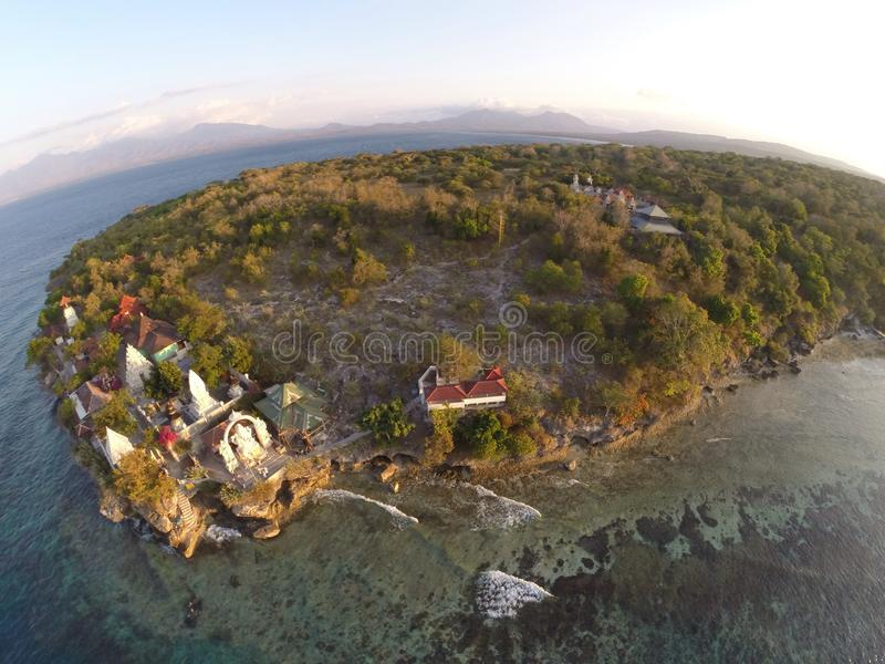 Ilha do templo fotografia de stock