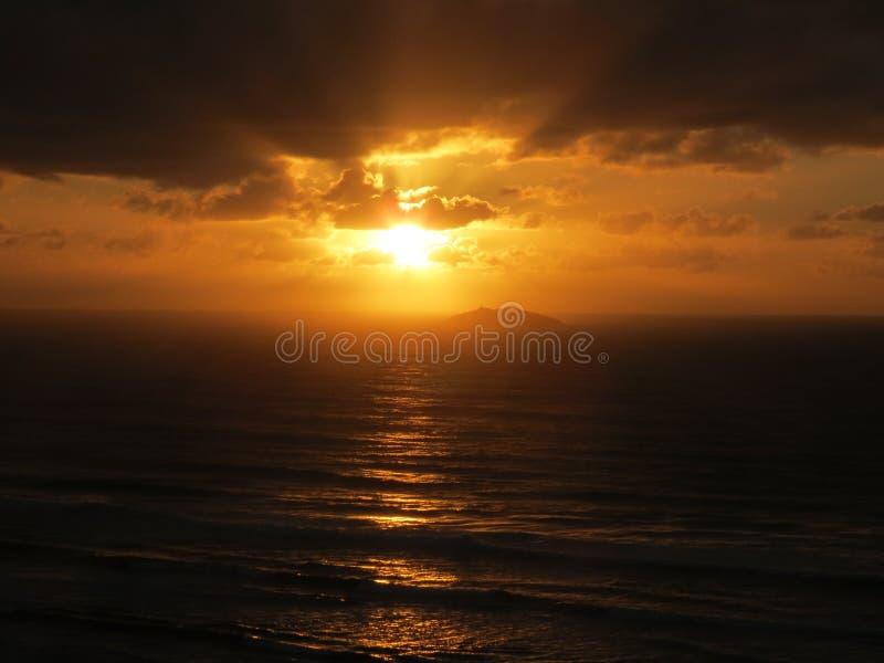Ilha dos lobos - Wolf Island. Sunrise on Laguna, Santa Catarina, Brasil, ft Ilha dos lobos royalty free stock photos