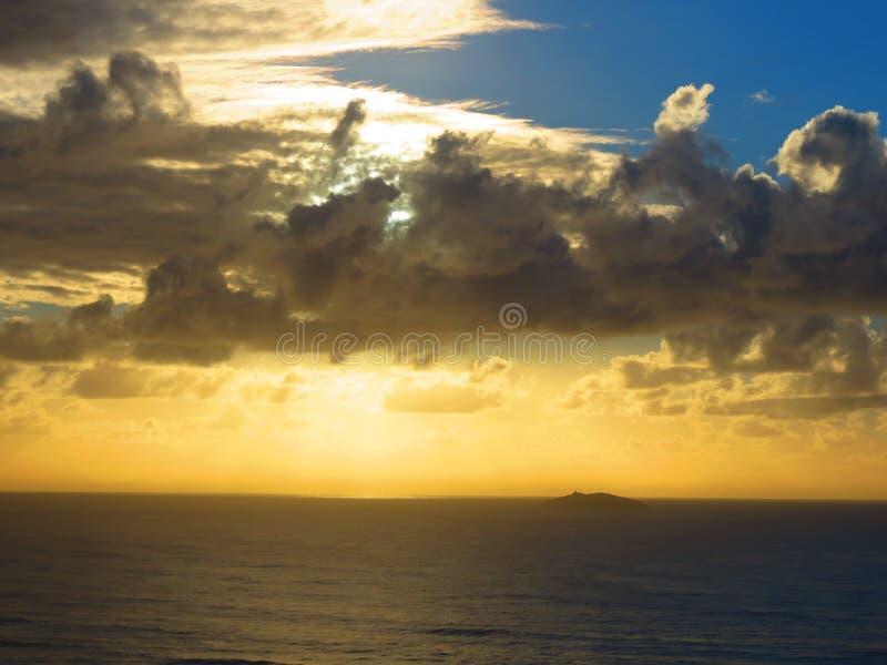 Ilha dos lobos - Wolf Island. Sunrise on Laguna, Santa Catarina, Brasil, ft Ilha dos lobos royalty free stock photo