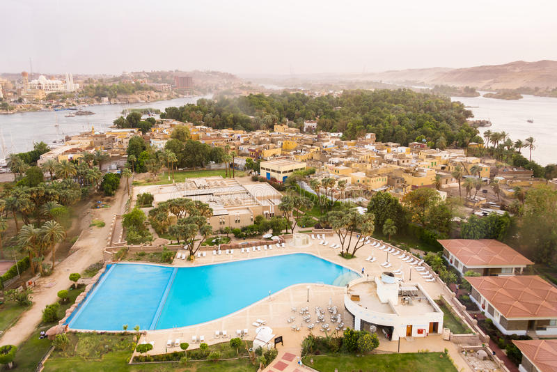 Ilha elefantina de Aswan imagem de stock royalty free