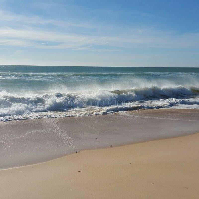Ilha Faro da praia da paisagem fotografia de stock