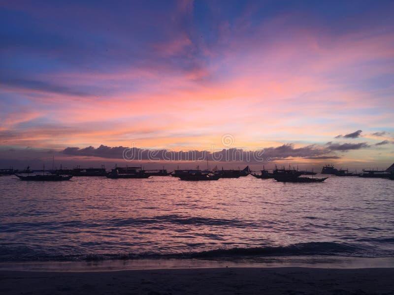 Ilha Filipinas de Boracay fotografia de stock