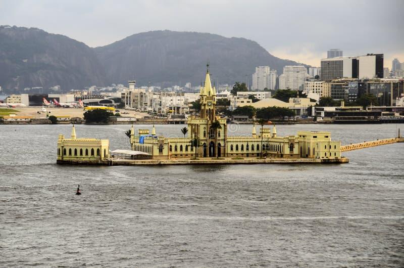 Ilha fiscal dans le Rio de Janeiro photographie stock