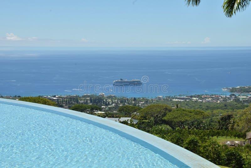 Ilha grande Havaí do cenário litoral fotos de stock