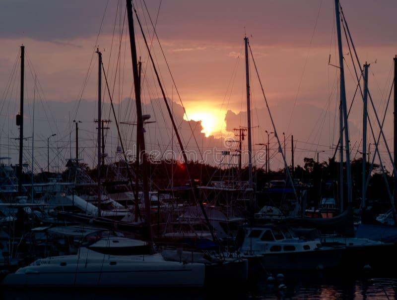 Ilha grande Marina Sunset imagens de stock royalty free