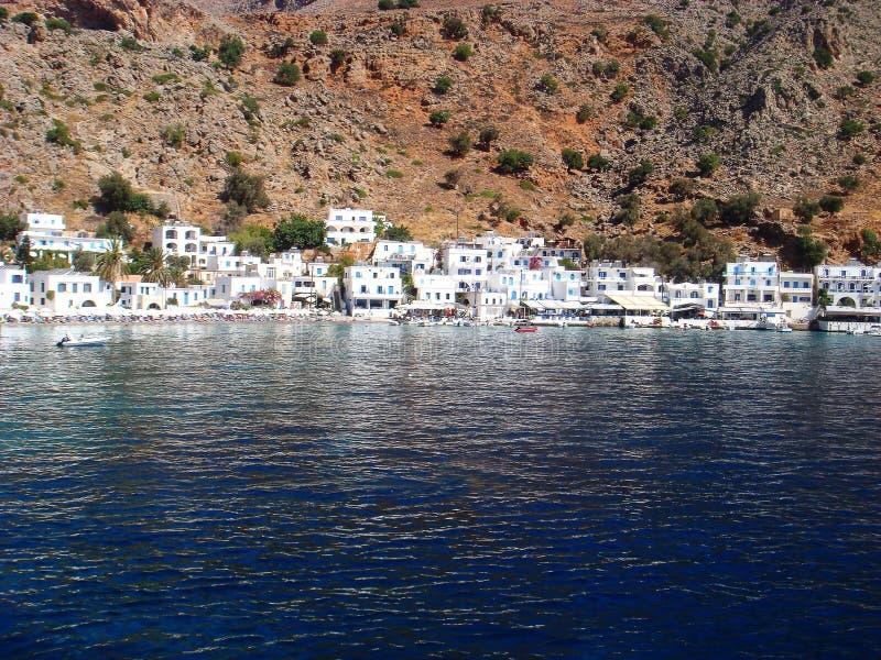 Ilha grega de surpresa com detalhes super do papel de parede do fundo da praia imagens de stock royalty free