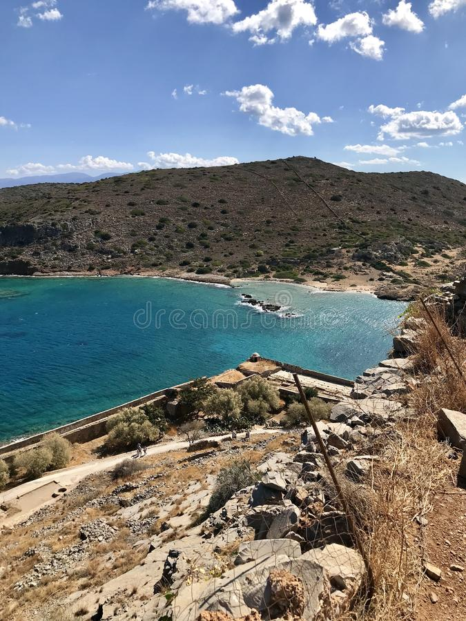 Ilha grega outubro fotos de stock