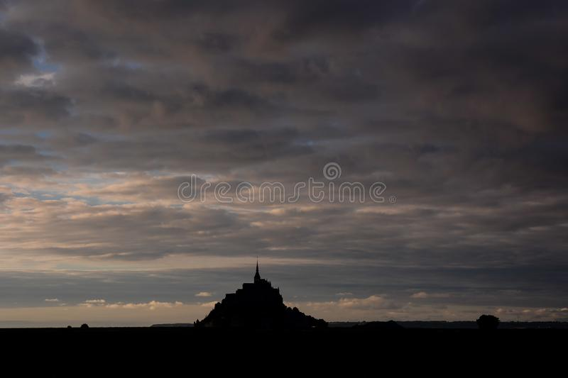 Ilha mar? Normandy Fran?a do norte do Le Mont Saint-Michel fotografia de stock royalty free