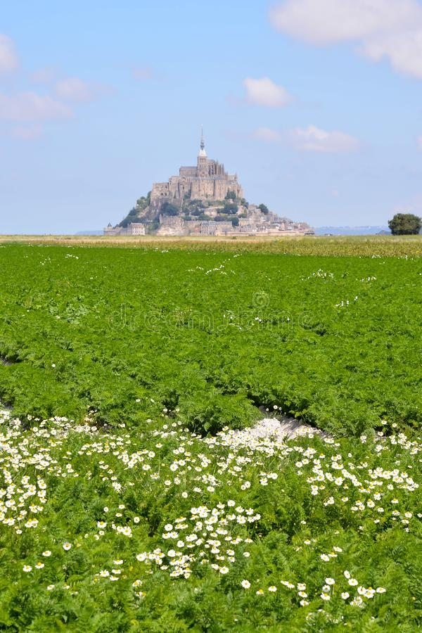 Ilha mar? Normandy Fran?a do norte do Le Mont Saint-Michel foto de stock