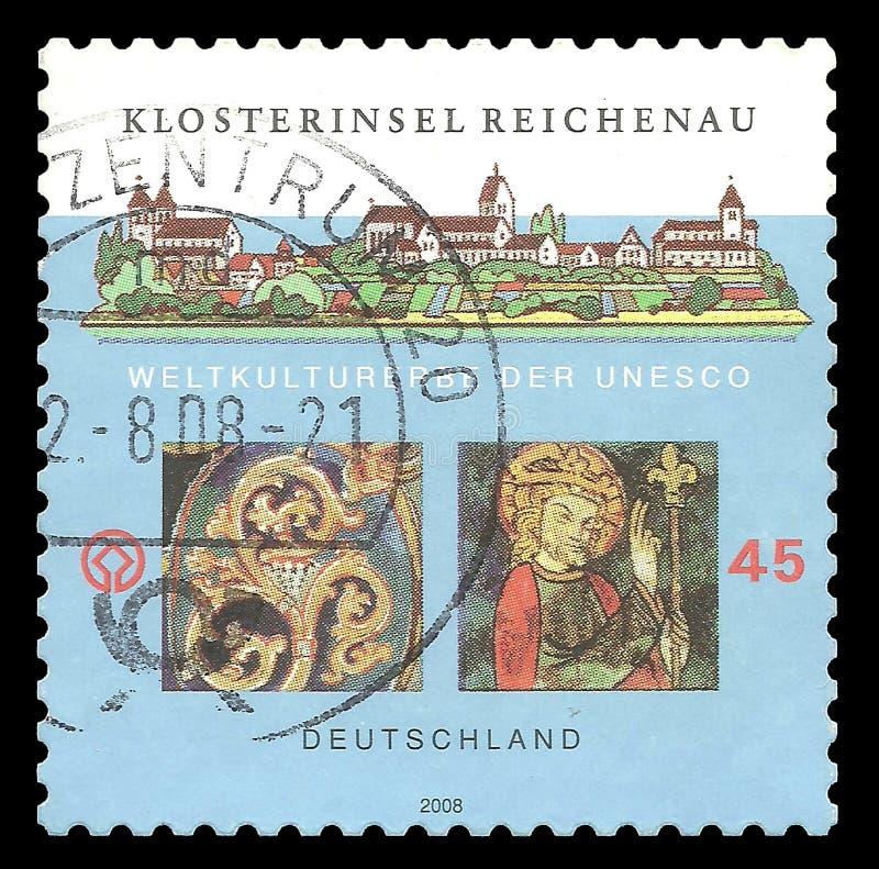 Ilha monástico de Reichenau imagens de stock